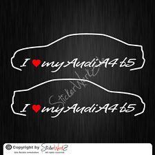 0418 | I Love my Audi A4 B5 Satz Aufkleber / Sticker