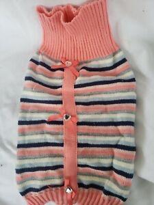 Beautiful Pink Stripe Dog Sweater Shirt- Smoochie Pooch