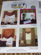 🌺 McCALL'S #M4802 - CUTE 90 MINUTE VALANCE - SWAG - SHADE - CURTAINS PATTERN FF