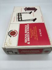 """AW) Bachmann 1951 """"O"""" SCALE PLASTICVILLE SIGNAL BRIDGE & SWITCH TOWER"""