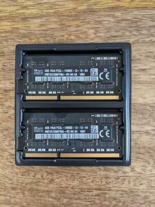 SK Hynix RAM 8 GB (2 x 4 GB) DDR3 SODIMM PC3L14900s Mac Memory HMT451S6BFR8A-RD