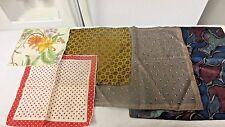 Lot 5 Various older Handkerchief Accessories:Floral,Polkadot,Circles,Mod Retro