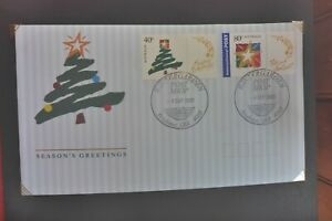 2001  SEASONS GREETINGS FIRST DAY COVER  WINTERGARDENS GIFT BOX  POSTMARK