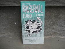 1960 Original Baseball Facts Booklet