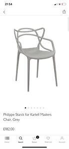 Pair Of John Lewis Phillipe Starck For Kartell Masters Chair £182 Each - Grey