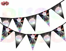 Dance Floor and Disco Ball Triangle I Love 80's Theme Bunting Banner 15 flags UK