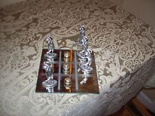 Collectible Golf Tic Tac Toe Game with Pewter Game Pieces and Mirror Board.
