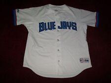 TORONTO BLUE JAYS BASEBALL JERSEY BY MAJESTIC GREAT SHAPE SIZE 50 ALL SEWN