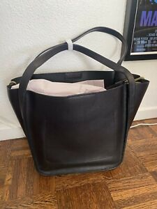 NEW Madewell Black Leather Tote Bag Medium Size