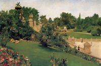 Oil painting William Merritt Chase - Terrace at the Mall, Cantral Park canvas