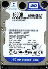 WESTERN DIGITAL SATA 160GB WD1600BEVT-00ZCT0 DCM: HHCT2HBB