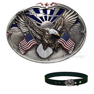 Adler USA Amerika Gürtelschnalle Emblem Belt Buckle Flagge  *444