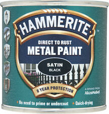 Hammerite Metal Pintura 250 ML Negro Satinado