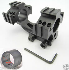 "New Cantilever 20mm Rail Mount Dual 30mm & 1"" 25mm Ring For Scope/Rifle #y09"
