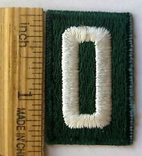 Vintage Girl Scout 1945-1973 Green NUMERAL ZERO PATCH #0 Troop Number Junior Cad