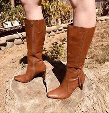70s Vintage Leather Boots Womans Size 6