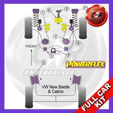 VW New Beetle & Cabrio 2WD (1998-2011) Powerflex Complete Bush Kit Diesel