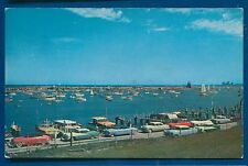 Yacht basins on Lake Michigan Lakefront in Chicago ILLinois il postcard