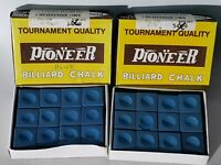 Pioneer 12 Pack Tournament Quality Pool Billiard Chalk Blue