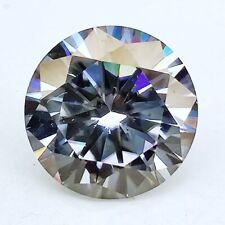 Round Brilliant Cut Loose Moissanite 4 Ring 1.28Ct 7.22 mm Vvs1 Grade Gray Color