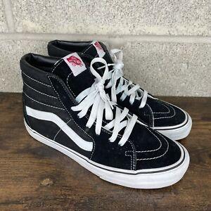 Vans SK8-Hi Old Skool High Tops Mens Size 8.5 Black Suede Skateboard Shoes