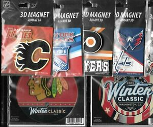 NHL HOCKEY LOGO AIMANT FRIDGE 3D MAGNET PPOPZ & WINCRAFT NHLPA SEE LIST
