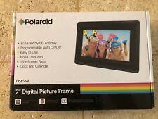 """NEW Black Polaroid 7"""" Digital Picture Frame LED"""
