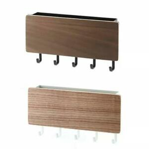 Wooden Mail And Key Holder For Wall Decoration, With 5 Key Hooks