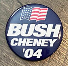 George Bush Dick Cheney 2004 04 President Election Blue 2.25 Round Button