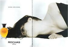 ▬► PUBLICITE ADVERTISING AD Parfum Perfume ROCHAS Femme 2 pages 1991
