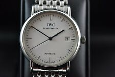 IWC Portofino Ref 3533 stainless steel bracelet, box and paper, mint