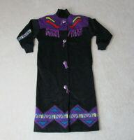 VINTAGE Marylou Ozbolt Storer Jacket Womens Medium Black Purple Aztec Western