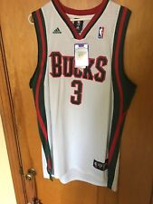 New NWT Brandon Jennings Milwaukee Bucks Adidas Swingman Jersey Size XXL
