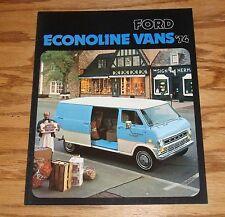 Original 1974 Ford Truck Econoline Van Sales Brochure 74