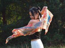 Yoga Girl Spirit Totem Luxury 100% Silk Scarf Hippie Bohemian Soul Art Fashion