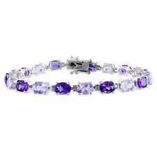 Amour Sterling Silver 14ct TGW Citrine or Amethyst 7.25-inch Bracelet
