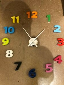 Present Time Karlsson Wall Clock DIY Mega Numbers Multi Colour