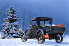 """Winter"" 26"" x 36"" Giclee 1929 Ford Model A Pick-up Maher"