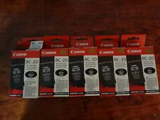 LOT OF 5 NEW GENUINE CANON BC-20 BJ CARTRIDGE  BJC-2000 5500 S100 MULTIPASS C635