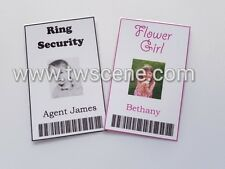 Play ID card flower girl pageboy hen party gift ring security