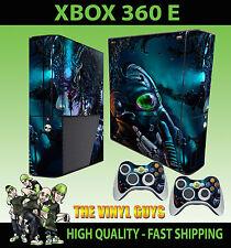 Xbox 360 E Cyber Punk Gasmaske Darkness Skin & 2 x Controller Polster Hülle