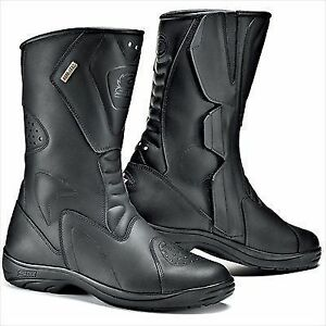 Sidi Stivali Tour Gore-tex  Motorcycle Boots Black  EU 42 UK 8 B53