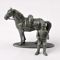 Atlas 1/32 WWI France Artillery Soldier & Horse Figure Model Diecast Toy Gift