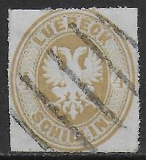 Lübeck stamps 1863 MI 12A CANC VF