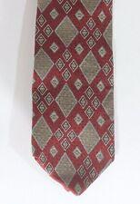 Men's Alexander Lloyd Geometric 100% Silk Made in USA Necktie Neck Tie