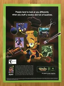 Voodoo Vince Xbox 2003 Vintage Video Game Print Ad/Poster Official Promo Pop Art