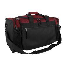 Brand New Duffle Bag Sports Duffel Bag in Maroon and Black Gym Bag