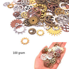 100g Watch Parts Steampunk Cyberpunnk Cogs Gears DIY Jewelry Maikng Crafts Art