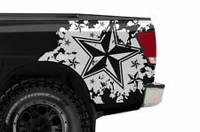 Vinyl Rear Decal NAUTICAL STAR Wrap Kit for Nissan Titan Truck 2004-2013 WHITE