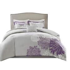 Comfort Spaces – Enya Comforter Set - 5 Piece – Purple, Grey – Floral.